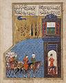 Shirin Arrives at Khusraw's Palace; Illustration from a Manuscript, probably Khusraw and Shirin of Nizami LACMA M.85.237.14.jpg