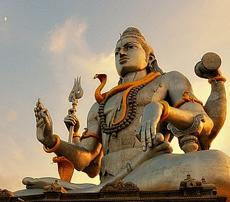 Shiva - Statue of Shiva in the lotus position at Murudeshwar