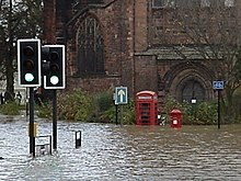 Flooding in Abbey Foregate.