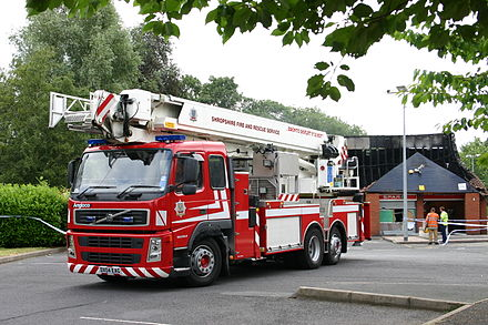 The whole county (including Telford and Wrekin) is served by the Shropshire Fire and Rescue Service. Shropshireladder.jpg