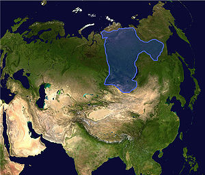 Siberia (continent) - Current location in Asia