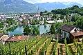 Sicht vom Schloss Werdenberg auf Buchs.JPG