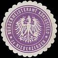 Siegelmarke Bürgermeisteramt Königsfeld zu Niederzissen W0383595.jpg
