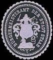 Siegelmarke Bürgermeisteramt der Stadt Staab W0321310.jpg