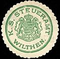 Siegelmarke Königlich Sächsische Steueramt Wilthen W0228929.jpg