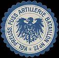 Siegelmarke K.Pr. Fuss Artillerie Bataillon No. 27 W0379153.jpg