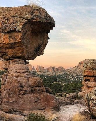 Sombrerete, Zacatecas - Rock formations at the Sierra de Organos National Park.