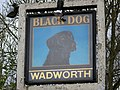 Sign for the Black Dog - geograph.org.uk - 1584150.jpg