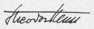 Theodor Heuss - Image: Signatur Theodor Heuss