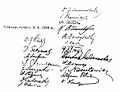 Signatures in 1918 Act of Independence of Lithuania.jpg