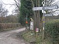 Signpost and lane to Nordy Bank - geograph.org.uk - 1182649.jpg