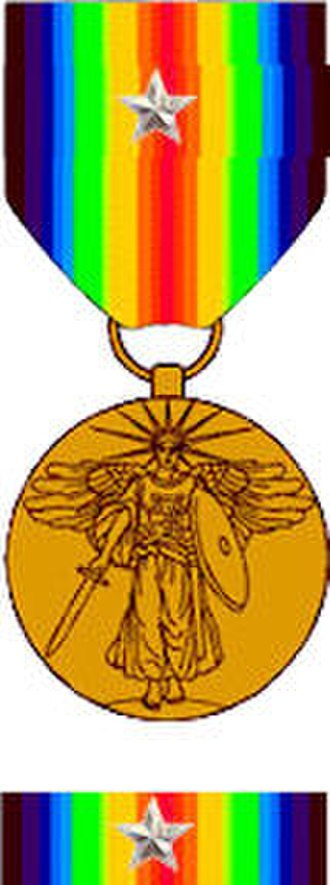 Joseph H. Albers - Example of Citation Star on World War I Victory Medal