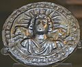 Silver disc dedicated to Sol Invictus, 3rd century AD, found at Pessinus (Asia Minor), British Museum (16099596841).jpg