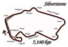 Silverstone Circuit in its 1998 configuration