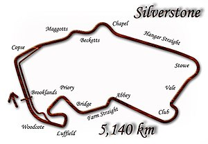1998 British Grand Prix - Silverstone Circuit in its 1998 configuration