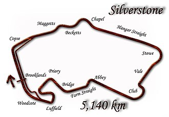 1997 British Grand Prix - Silverstone Circuit in its 1997 configuration
