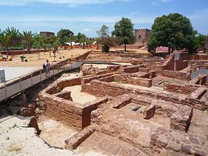 Castle of Silves - The pathways that provide visitors a close glimpse of the archaeological excavations in Silves Castle