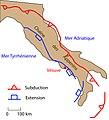 Simplified tectonic context of Vesuvius volcano, Italy.jpg