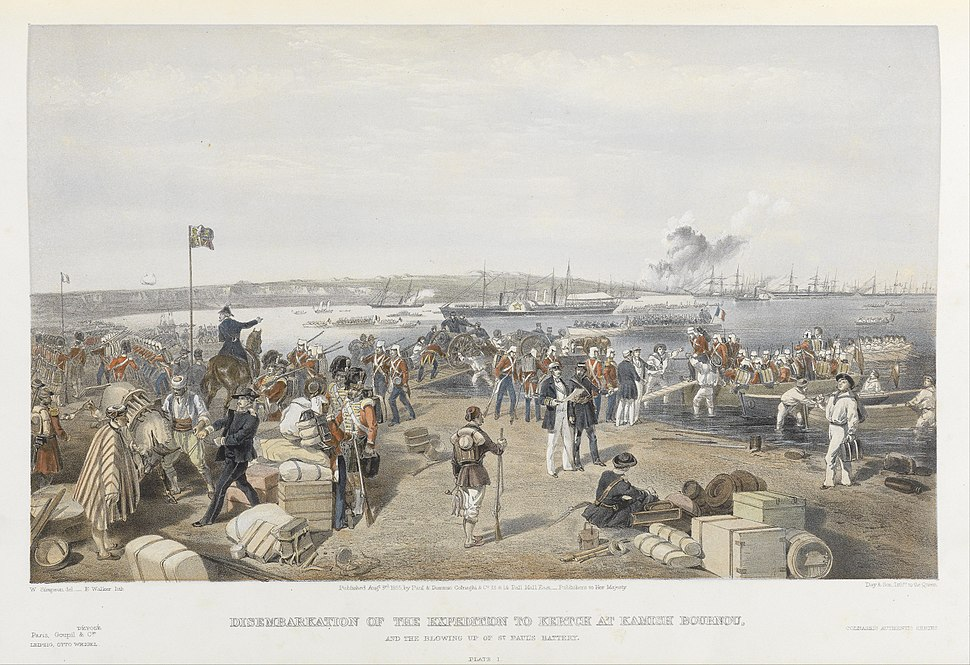 Simpson Disembarkation of the expedition to Kertch at Kamish Bournou