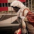 Sinterklaas' helping hand Black Pete in Hoogezand in 2009.jpg