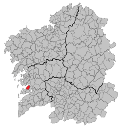 Location of Marín within Galicia