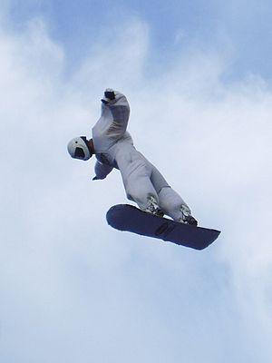 Skysurfing - Skysurfer on a simulator