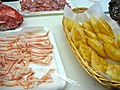 Slices of pancetta to eat with gnocco fritto (dough fried in lard).jpg