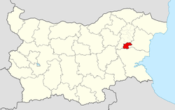 Smyadovo Municipality Within Bulgaria.png