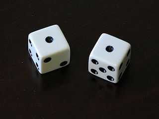 Snake eyes rolling double ones in a dice game, particularly craps