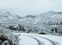 Neve sulle montagne del sud della California