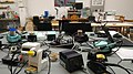 Soldering stations at Coredump Hackerspace.jpg