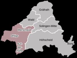 Wuppertal Karte Stadtteile.Solingen Karte Onlinebieb