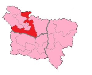 Somme's 4th constituency - Somme's 4th Constituency shown within Picardie.