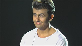 Pompadour (hairstyle) - Indian pop star Sonu Nigam with modern adaptation of the Teddy Boy cut.