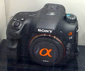 Sony SLT-A65 in a show-case.jpg