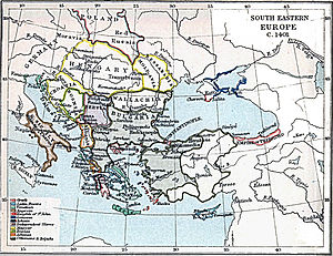 Maurice Spata - Map of the states of south-eastern Europe in 1401