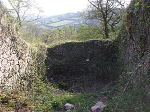 Morgraig Castle - A South-facing rectangular tower of Morgraig Castle