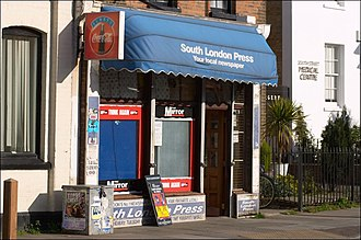 South London Press - A news outlet in Greenwich that sells the South London Press. Despite the slogan, Greenwich itself is not covered by the SLP.