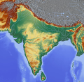 South Asia relief map blank.png