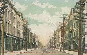 Wilkes-Barre, Pennsylvania - South Main Street in 1906