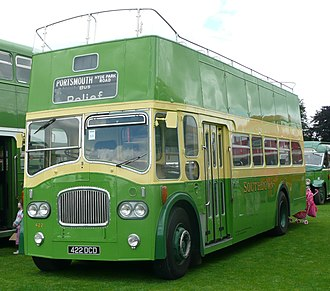 Southdown Motor Services - A now preserved Leyland Titan, previously run by Southdown as fleet number 422.