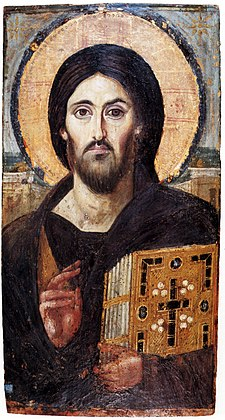 Ikona ježíše krista ze 6. století.