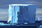 Spectacular Christmas morning cruise through the remants of giant Tabular iceberg B15Y, which is now grounded just off Bransfield Island at the N tip of the Antarctic Peninsula. (25879233322).jpg