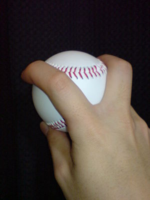 Split-finger fastball - Image: Split finger fastball 2