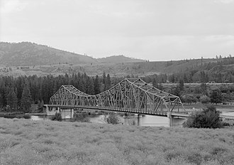 Spokane, Washington - The Spokane River Bridge at Fort Spokane