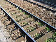 Spoorbaan houten dwarsliggers alphen aan den rijn