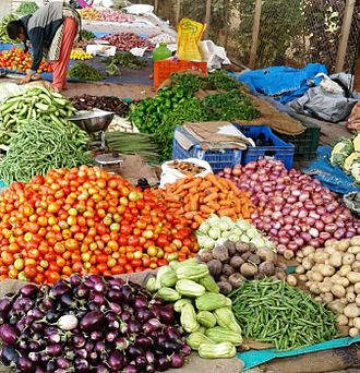 Srirangapatna - Vegetable Market at Elephant Gate