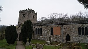 J. B. Priestley - Priestly's ashes are scattered at St. Michael and All Angels Church in Hubberholme in the Yorkshire Dales National Park.