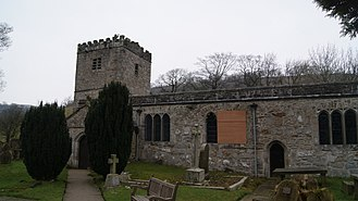 J. B. Priestley - Priestley's ashes are scattered at St Michael and All Angels' Church in Hubberholme in the Yorkshire Dales National Park.