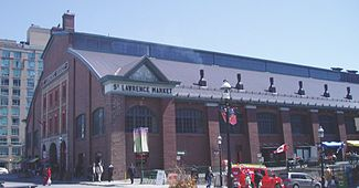 St. Lawrence Market, a central structure to the area.